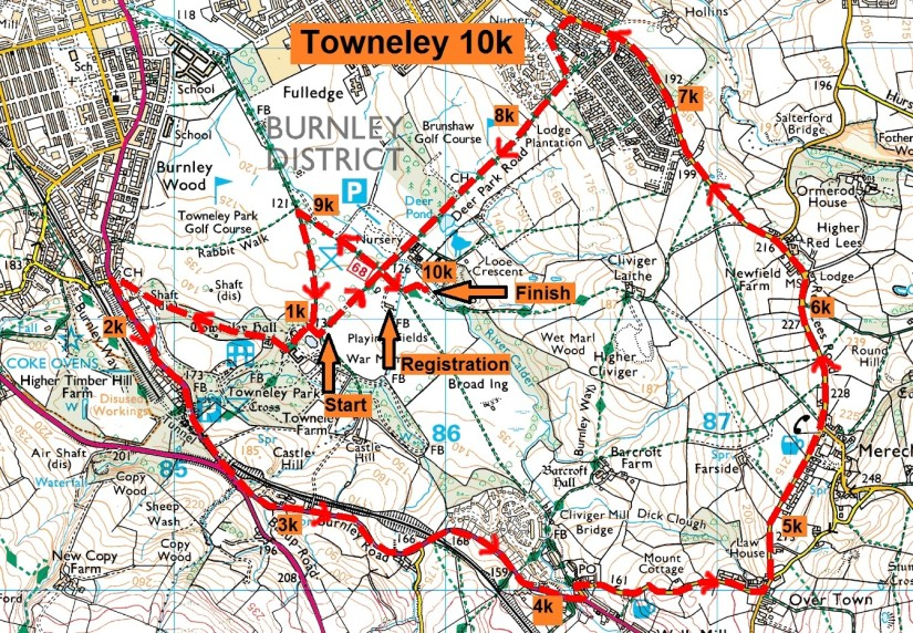 Details of Towneley Park 10k Road Race & JuniorRaces
